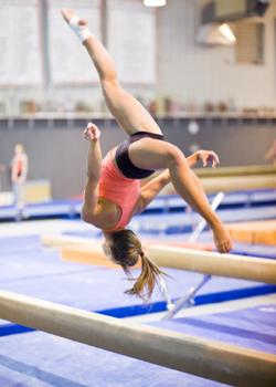 Gymnast Mid-Flip