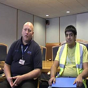 Andy Dryden, Logistics Manager, and Sandeep Jerath, Year 12 Student