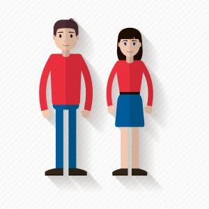 cartoon of a couple