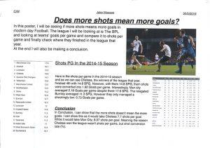 shots and goals
