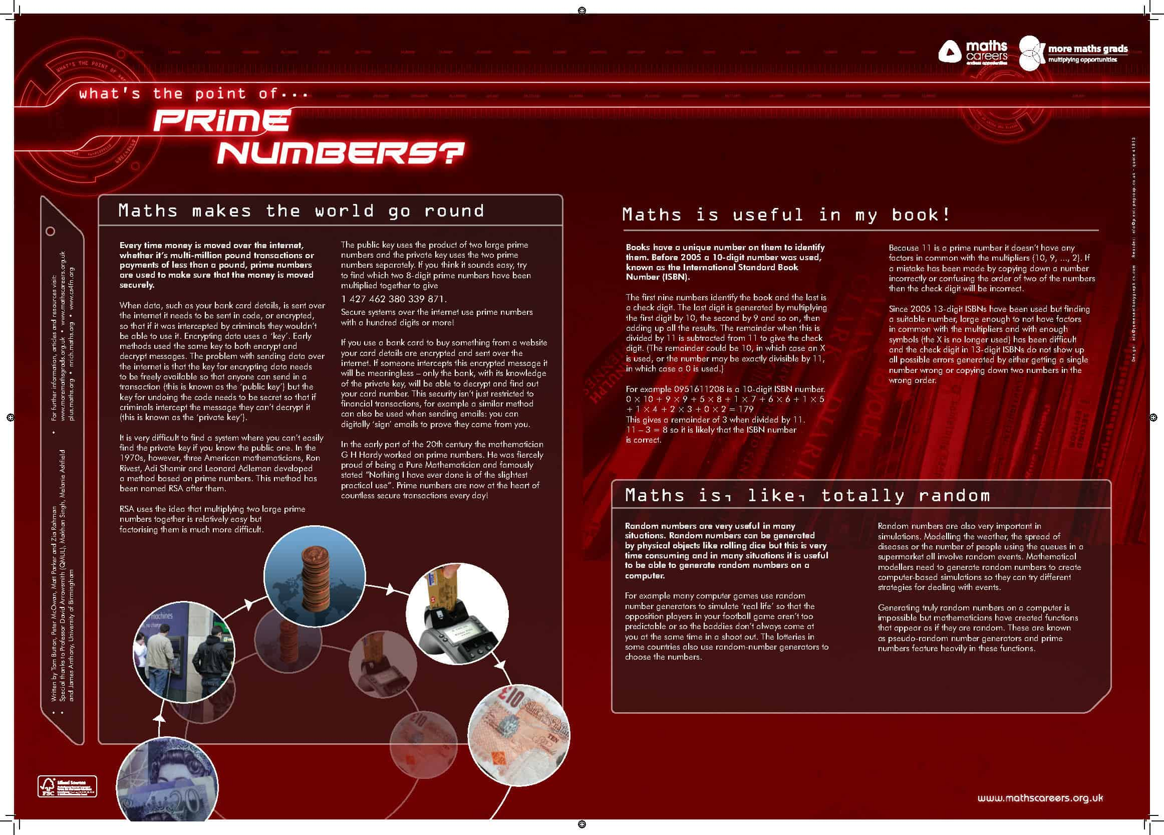 Posters and Resources from Maths in a Box - Maths Careers