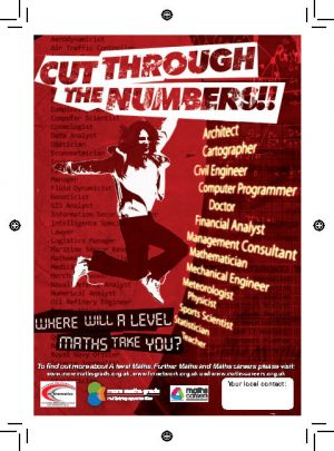 cut through the numbers poster