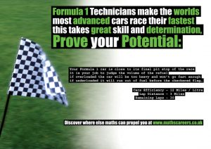 formula 1 maths poster