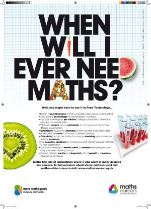 maths in food technology poster