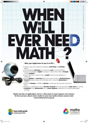 maths in IT poster