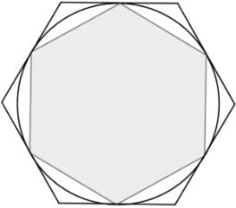 inscribed hexagon